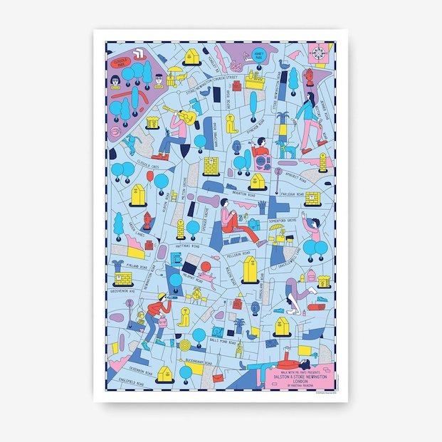 Dalson Stoke Newington Mapas de londres por Martina Paukova