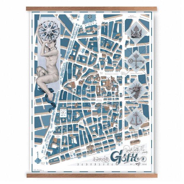 Mapas del barrio gótico de barcelona