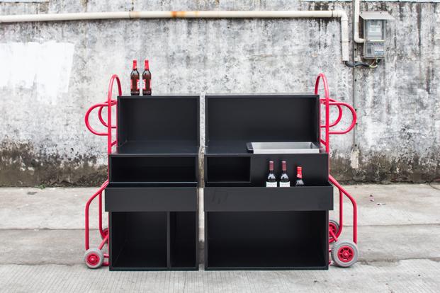mueble bar con ruedas para muebles
