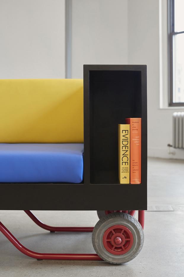 libreria push pull con ruedas para muebles