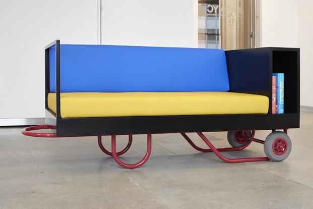 sofa push pull con ruedas para muebles