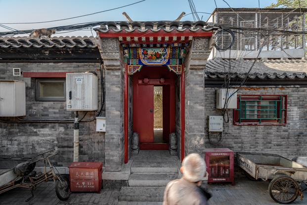 fachada de casa china Twisting Courtyard ARCHSTUDIO en Pekin diariodesign