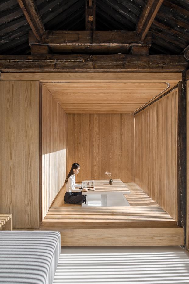 estructura madera de una casa china