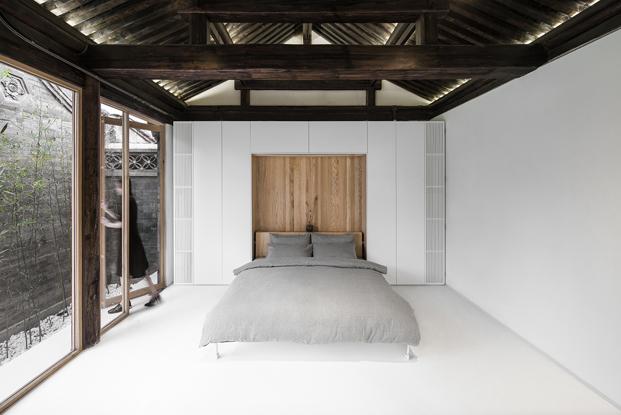 dormitorio de una casa china moderna