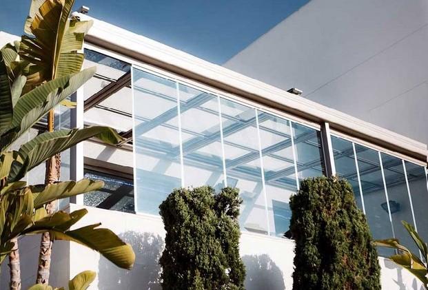 proyectos de acristalia con cortinas de cristal