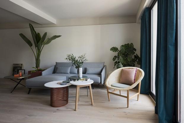 espacios abiertos en un pequeño apartamento