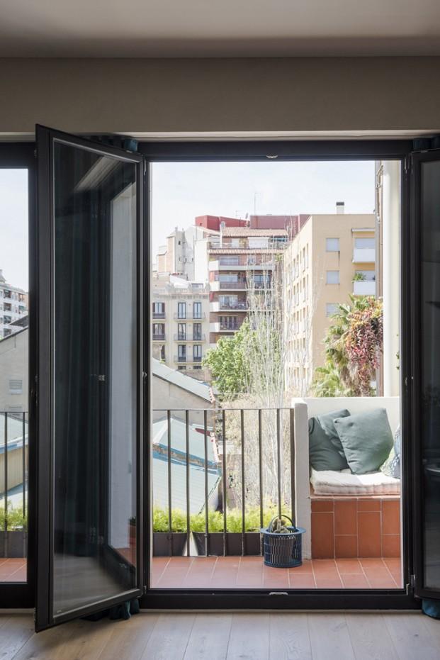 balcon en pequeño apartamento