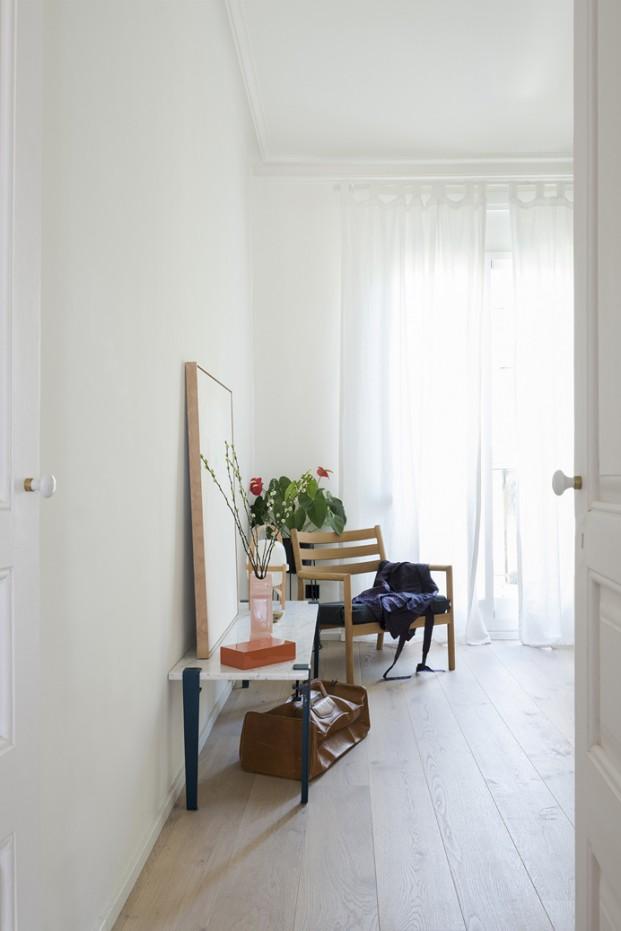 luz en un pequeño apartamento