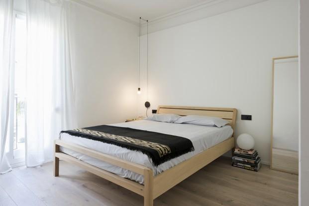 dormitorio de un pequeño apartamento