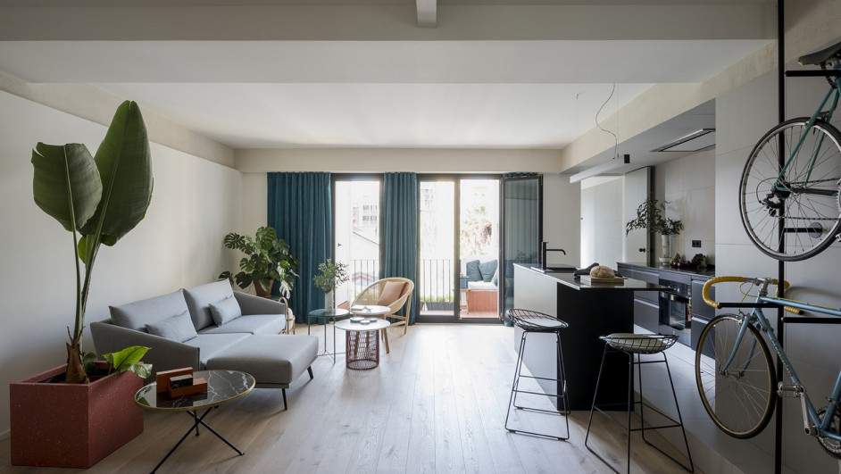 pequeño apartamento sant antoni barcelona diariodesign