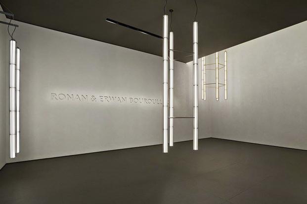 verticale de los hermanos Bouroullec para flos iluminacion