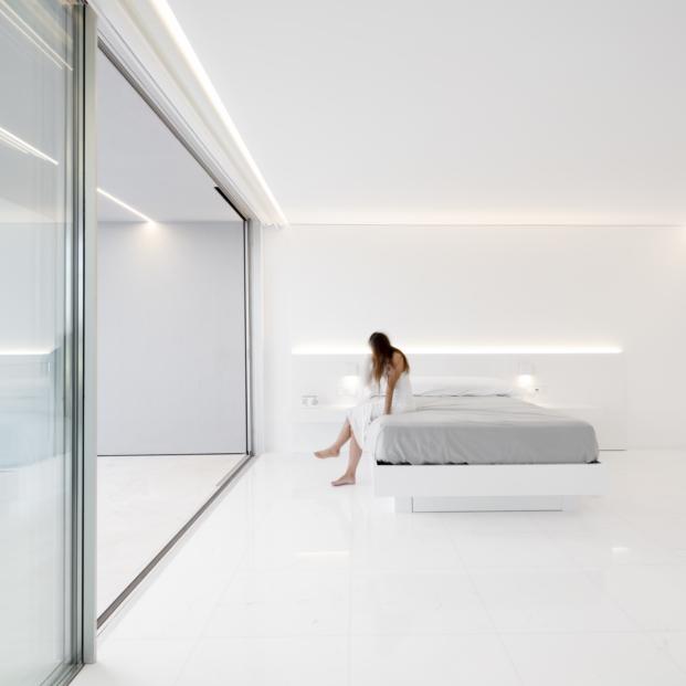 dormitorio de casa en paterna de fran silvestre arquitectos