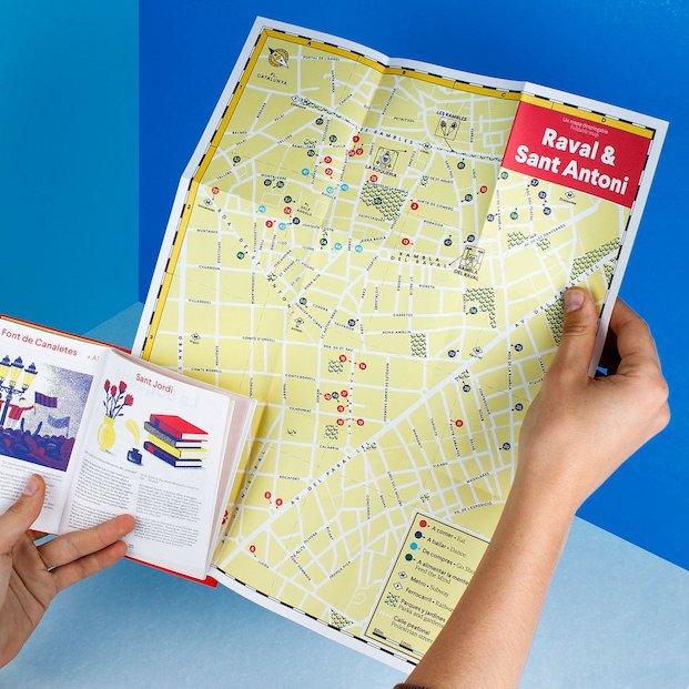 Guias y mapas del barrio del Raval y Sant Antoni de Barcelona en diariodesign