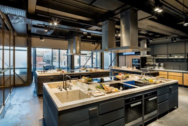 taller de cocina en segunda planta de biblioteca en seul