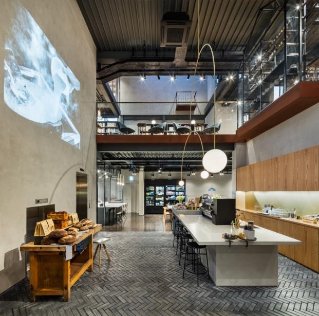 cafeteria de biblioteca en seul