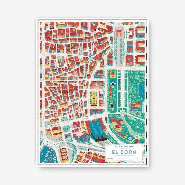 mapas del Born de Maria diamantes en diariodesign