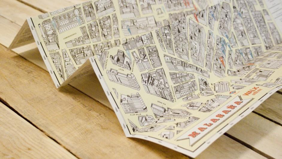 mapas de malasana madrid ilustrador guillermo trapiello