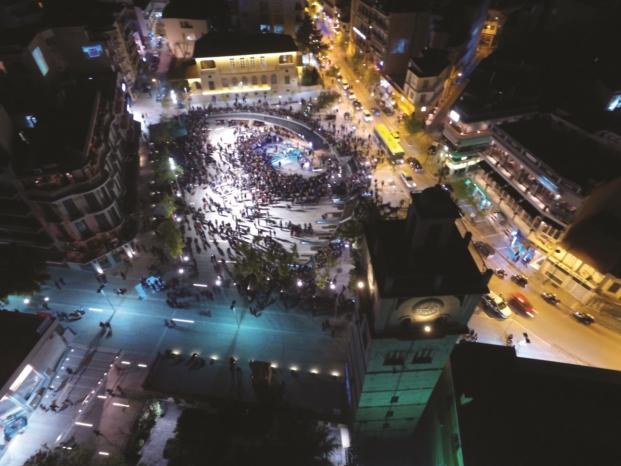 Central Square of Kozani Premios lamp lighting