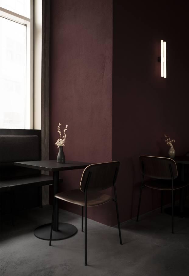 cromatismo en el restaurante en copenhague naervaer de norm architects