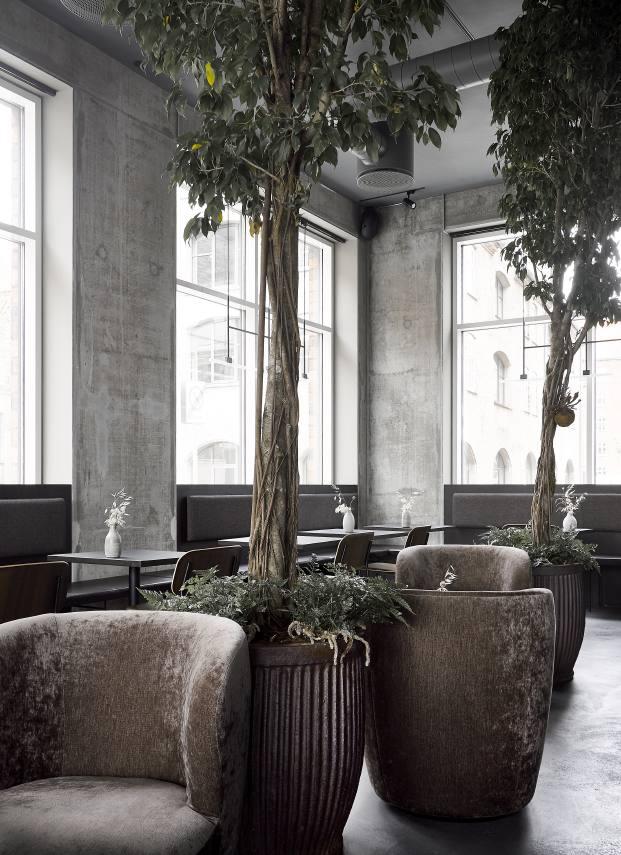 interior restaurante en copenhague naervaer de norm architects