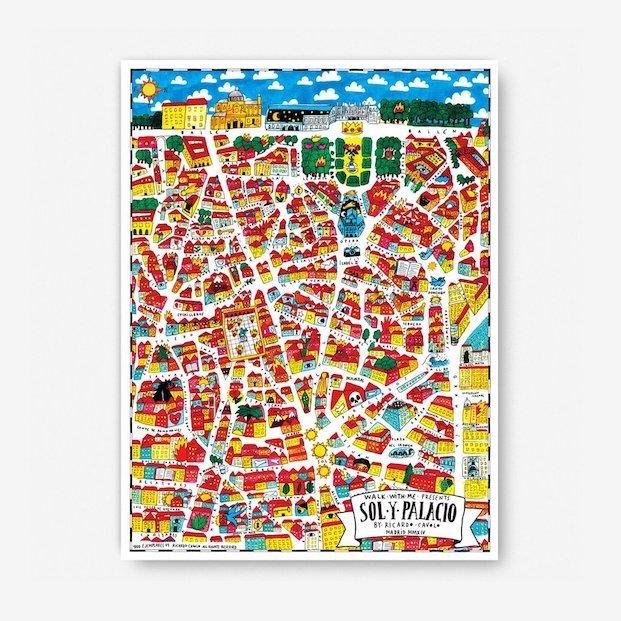 mapas madrid del barrio Sol y Palacio Mar por Ricardo Cavolo en diariodesign
