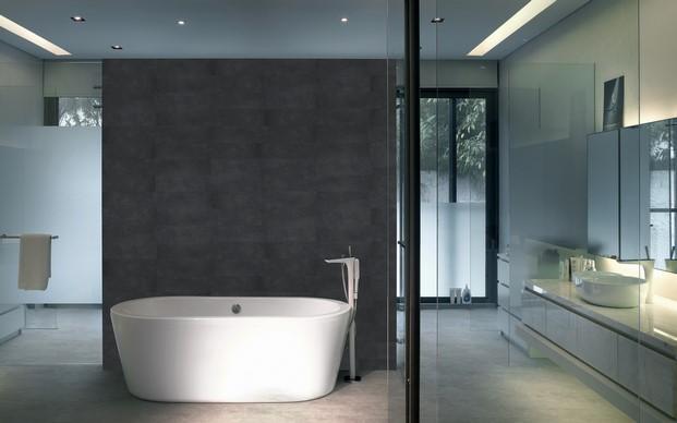 suelos laminados flint floor en un baño