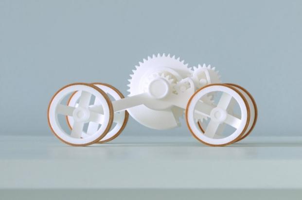 objetos en la muestra de fundacion telefonica imprimir en 3d
