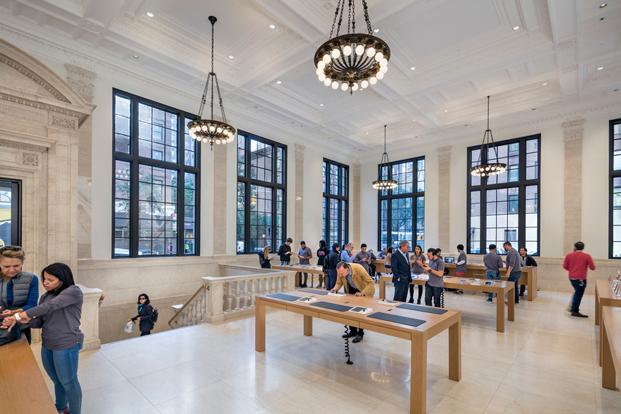 hall de la tienda apple en nueva york de Bohlin Cywinsky Jackson