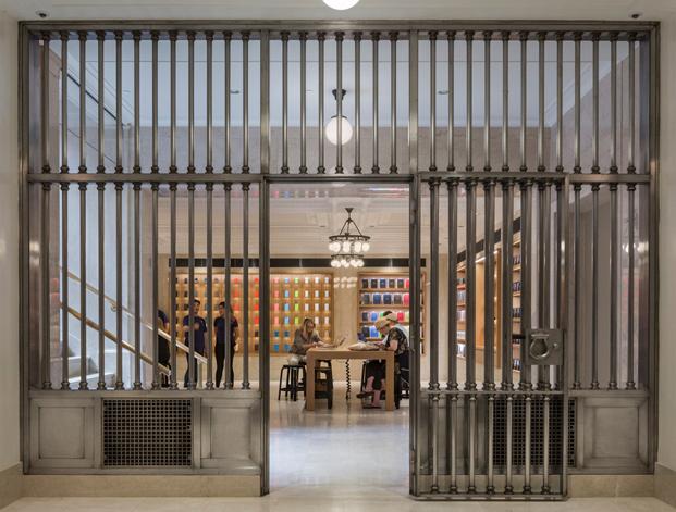 espacio de venta privada en la tienda apple en nueva york en upper east side