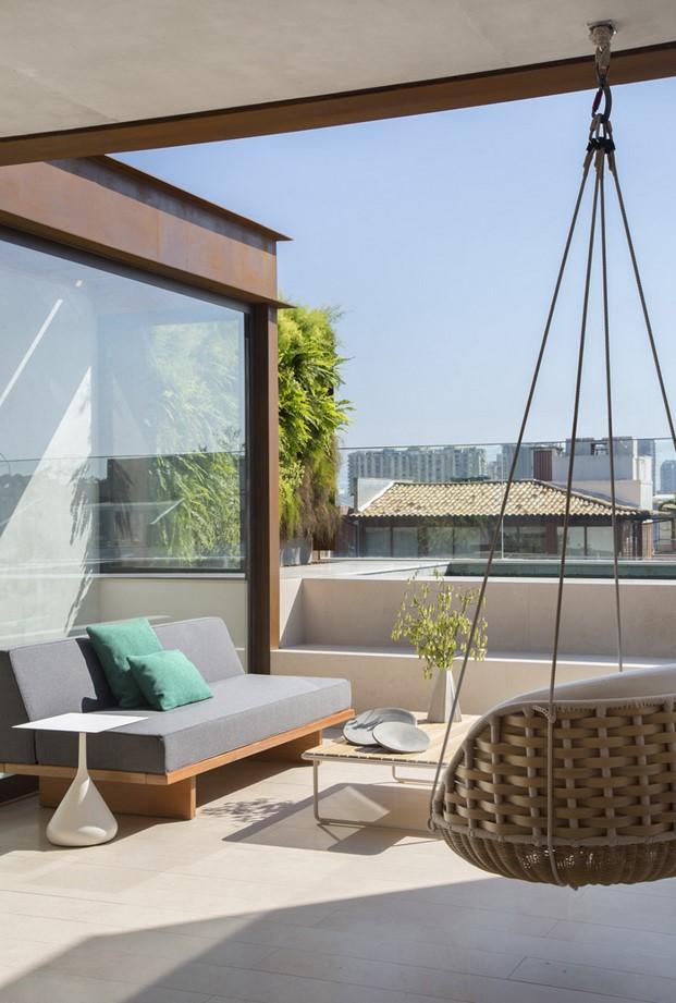 terraza pequeño dúplex BC Architecs en Brasil