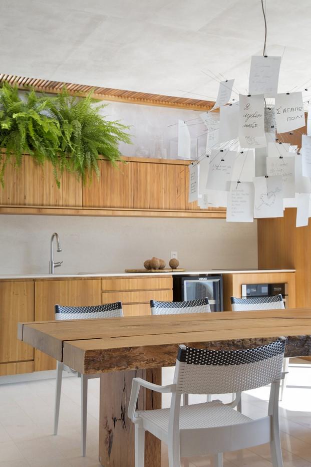 cocina pequeño dúplex BC Architecs en Brasil
