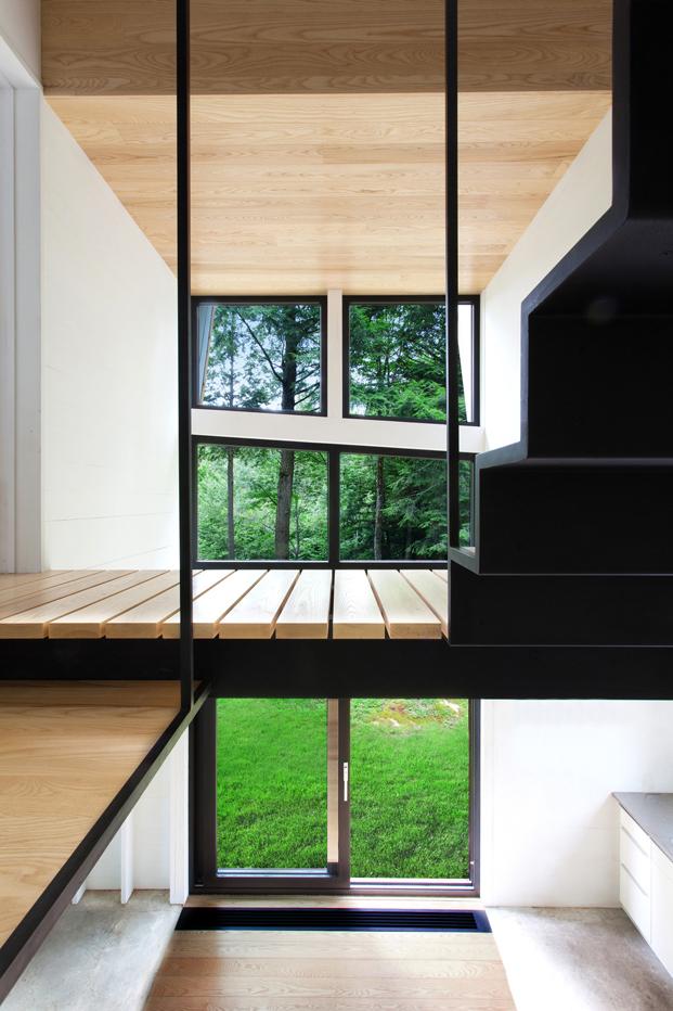 altillo casas en el bosque La Colombiere en Quebec diariodesign