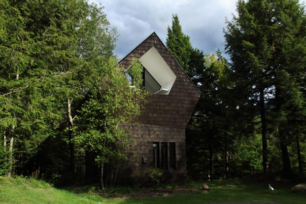 casas en el bosque La Colombiere en Quebec diariodesign
