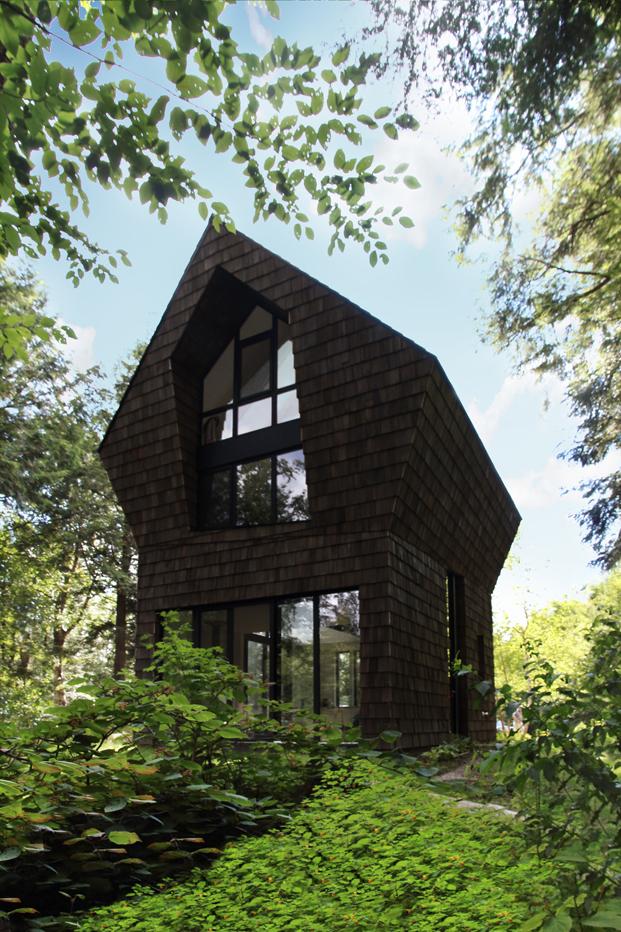 casa en el bosque quebec canada diariodesign