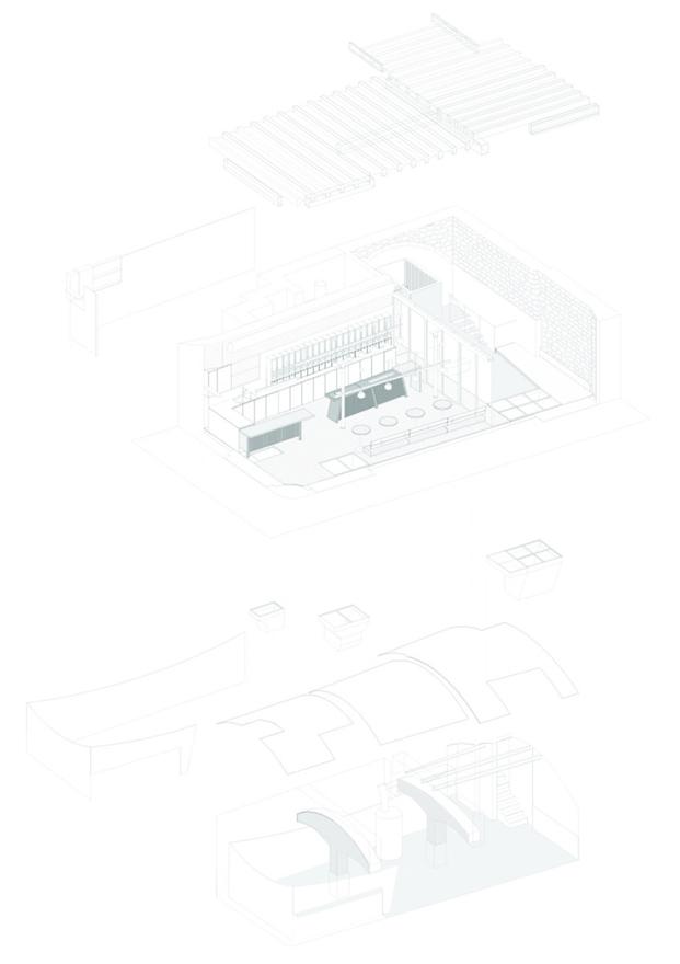 planos plantas cafeteria MAG by El Magnifico Tomas Lopez Amat en el born Barcelona diariodesign