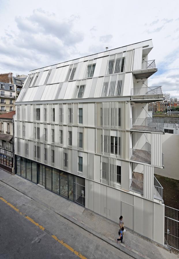exterior vivienda social Castagnary Dietmar Feichtinger Architectes Paris diariodesign