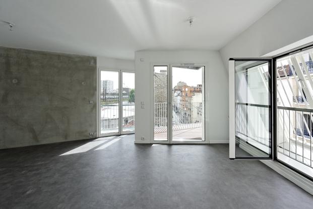 interior vivienda social Castagnary Dietmar Feichtinger Architectes Paris diariodesign