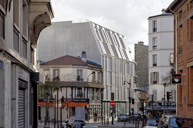 fachada vivienda social Castagnary Dietmar Feichtinger Architectes Paris diariodesign
