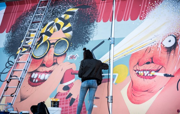 talento y arte urbano the creative wall diariodesign
