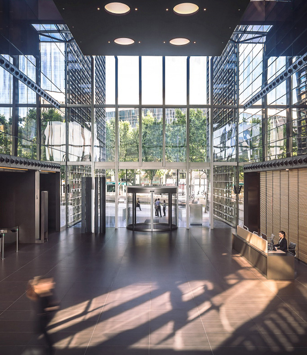 entrada edificio cuatrecasas de GCA architects