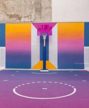 canasta pigalle nike baloncesto parís rosa