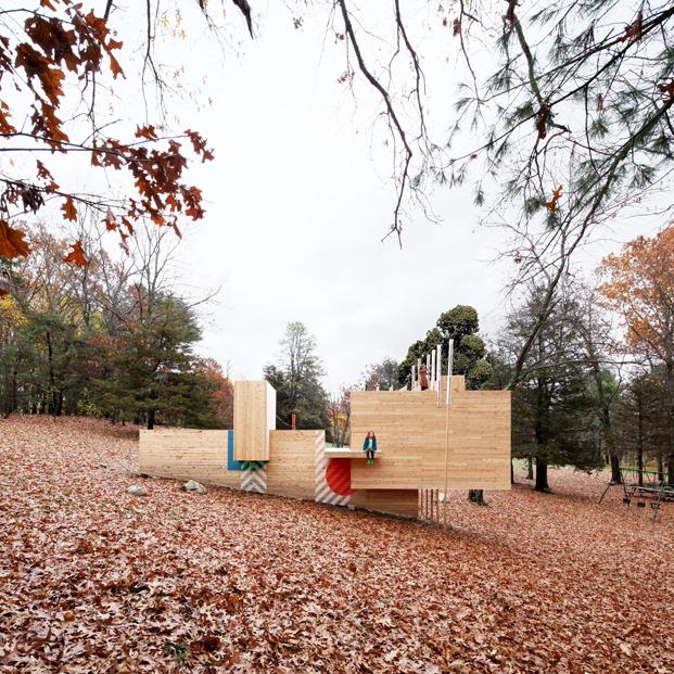 Five Fields Play Structureparque infantil arquitectura y diseño para niños diariodesign