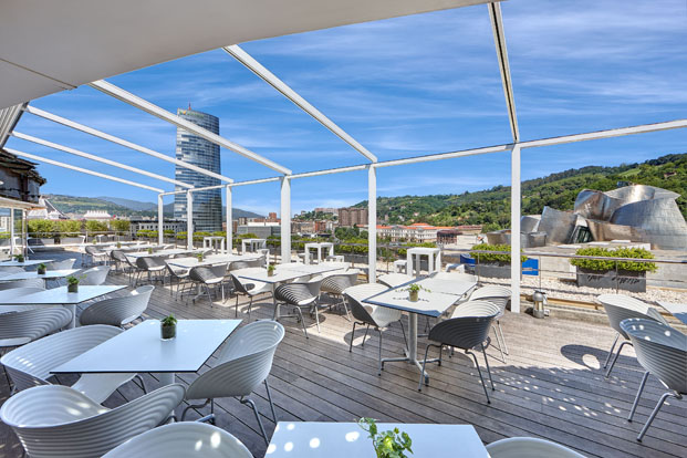 terraza Gran Hotel Domine Foraster Arquitectos diariodesign