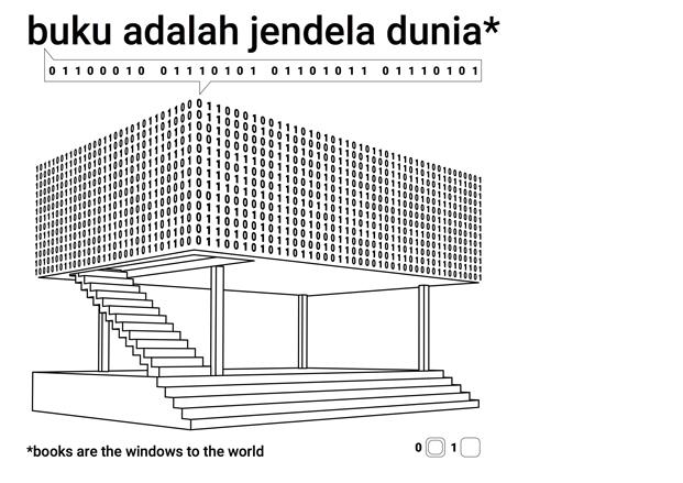 cartel microbiblioteca Microlibrary Bima SHAU Indonesia diariodesign