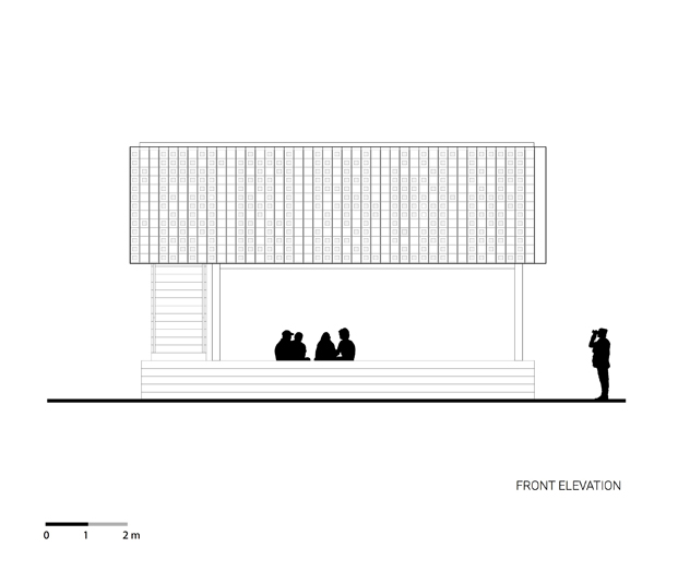 plano del proyecto microbiblioteca Microlibrary Bima SHAU Indonesia diariodesign