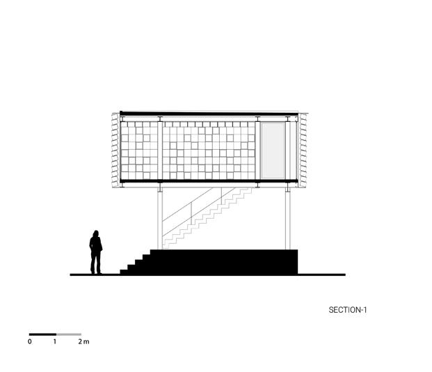 plano proyecto exterior microbiblioteca Microlibrary Bima SHAU Indonesia diariodesign