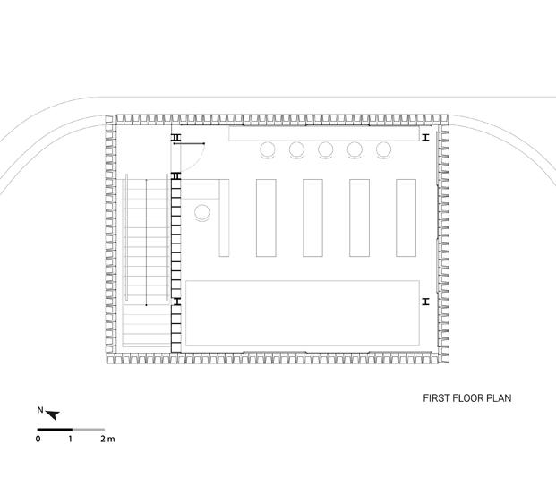 planos interior microbiblioteca Microlibrary Bima SHAU Indonesia diariodesign