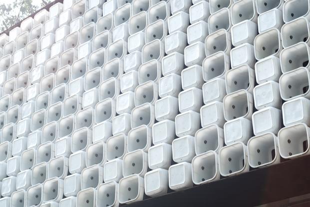 fachada microbiblioteca Microlibrary Bima SHAU Indonesia diariodesign