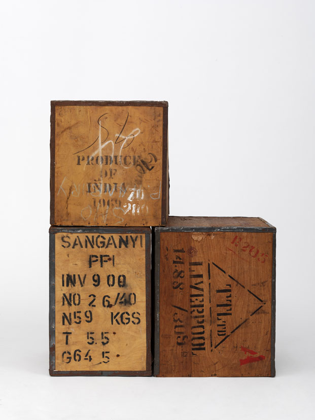Cajas para transportar te en el Victoria and Albert Museum