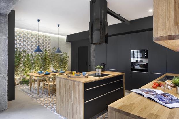 cocina casa de diseno en Poblenou en tres actos Egue y Seta diariodesign
